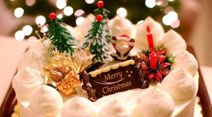 Santa Claus, Jingle bells, Mistletoe, Carols, and a Christmas Cake